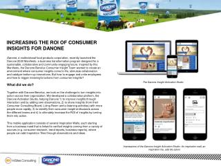 Increasing the ROI of Consumer Insights for Danone