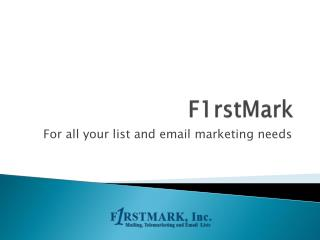 FirstMark - Best Mailing Lists Provider
