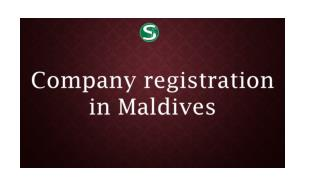 Company registration in Maldives