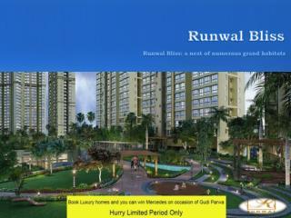 1.5,2,3,4,5 BHK Luxury Flats in Kanjurmarg,Mumbai - Runwal Bliss | ( 91) 9953 5928 48