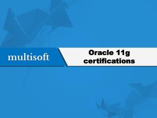 Oracle 11g certifications