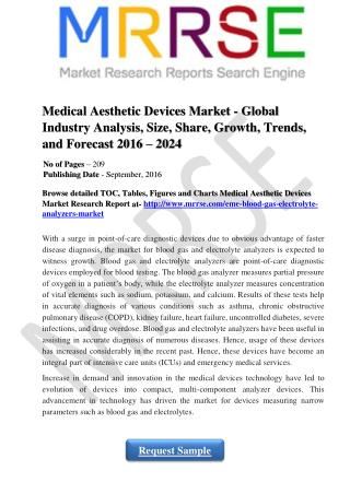 Medical Aesthetic Devices Market - Global Industry Analysis, Size, Share, Growth, Trends, and Forecast 2016 – 2024