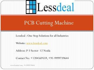 PCB Cutting Machine supplies by Lessdeal