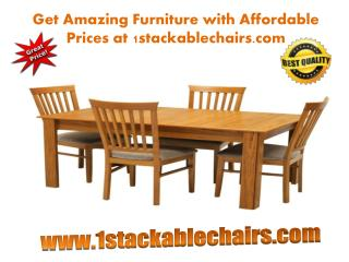 Get Amazing Furniture with Affordable Prices at 1stackablechairs.com