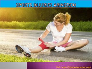 Sports injuries Abingdon