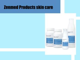 Zenmed products skin care