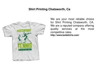 Shirt Printing Chatsworth, Ca