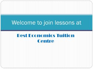 Best Economics Tuition