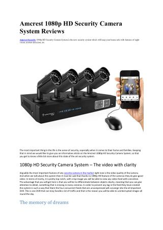 Amcrest 1080p HD Security Camera System