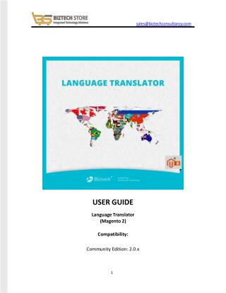 Language Translator Magento 2 Extension