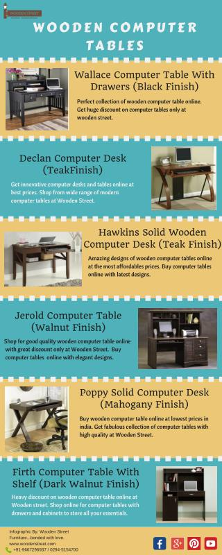 Affordable Computer Tables Available Online In India