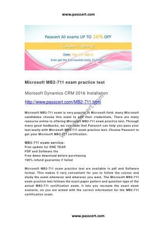 Microsoft MB2-711 exam practice test