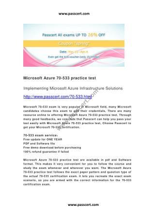 Microsoft Azure 70-533 practice test