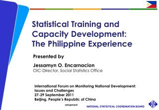 Statistical Training and Capacity Development:  The Philippine Experience