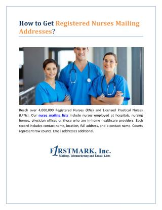 How to Get Registered Nurses Mailing Addresses?