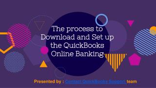 the process to Download and Set up the QuickBooks Online Banking?