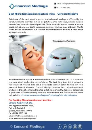 Best Microdermabrasion Machine India – Concord Medisys