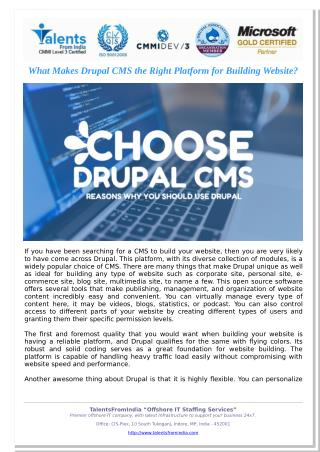 What Makes Drupal CMS the Right Platform for Building Website?
