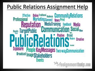 Public Relations Assignment Help for UK Students