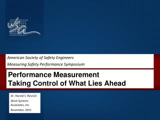 Performance Measurement Taking Control of What Lies Ahead