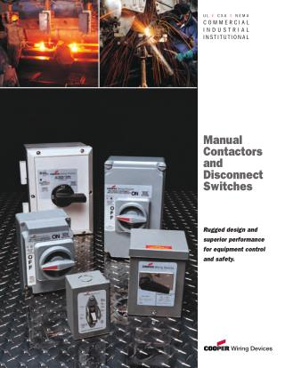 Manual Contractors And Disconnect Switches | Authorized Parts Inc