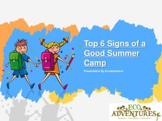 Top 6 Signs of a Good Summer Camp