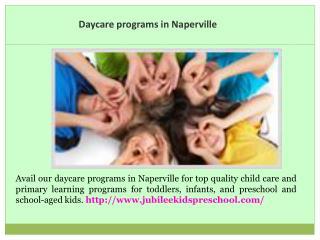 Child Care in Naperville
