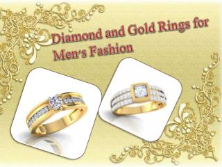 Diamond and Gold Rings for Men's Fashion