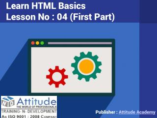 Learn Advanced and Basic HTML - Lesson 4 (i)