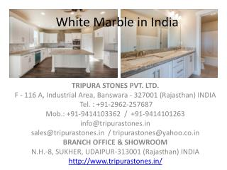 White Marble in India