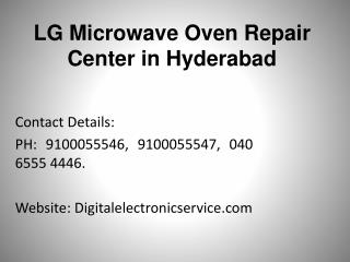 Lg microwave oven repair center in hyderabad