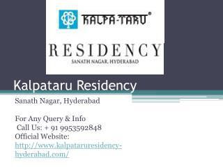 Kalpataru Residency Hyderabad At Sanath Nagar Apartments