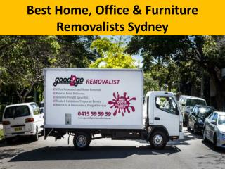 Best Home, Office & Furniture Removalists Sydney