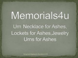 Cremation Jewelry for Ashes, Urn Necklace for Ashes - Memorials4u