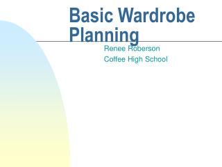 Basic Wardrobe Planning