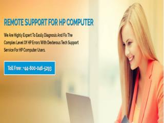 HP Technical Support Phone Number UK  448000465293