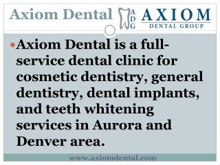 Cosmetic Dentist Aurora