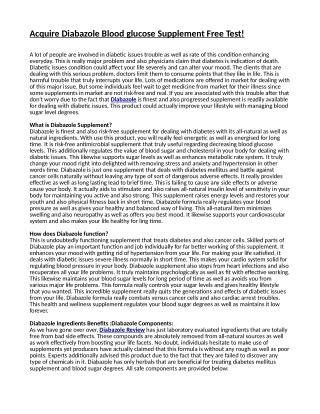 Diabazole Reviews - 100% Natural Supplement No Fraudulence