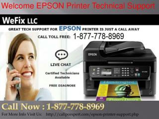 Dial Toll-Free Epson Printer Customer Support &1-877-778-8969* For Tech Support