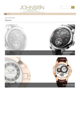 Designer Harry Winston Watches for men and women