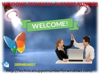 Windows Technical Support Number:-18004854057