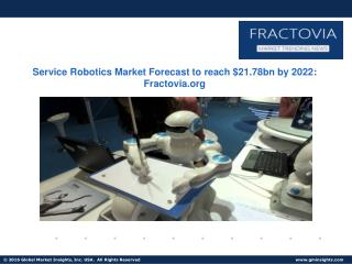 Service Robotics Market share to grow at 17.8% from 2015 to 2022