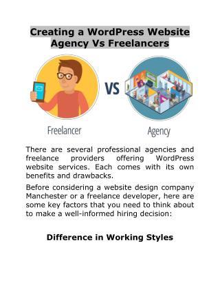Creating a WordPress Website Agency Vs Freelancers