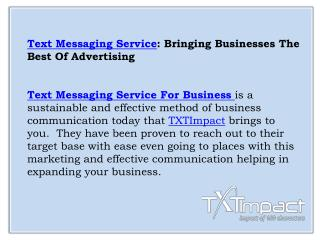 Text Messaging Service For Business | Business Text Messaging