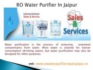 RO Water Purifier Domestic