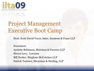 Project Management Executive Boot Camp