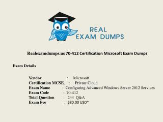 Microsoft 70-412 Exam Dumps With Verified Question Answers