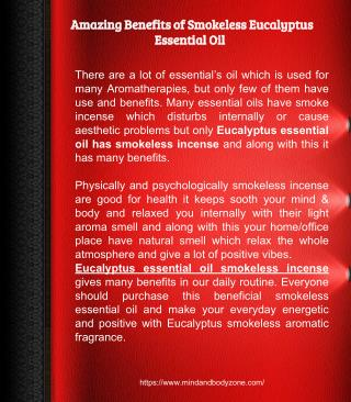 Amazing Benefits of Smokeless Eucalyptus Essential Oil
