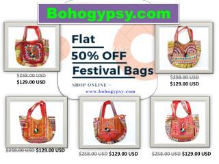 Get 50% Discount on Bohemian Festival Bags | Boho Gypsy