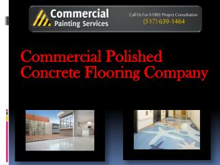 Commercial Polished Concrete Flooring Company